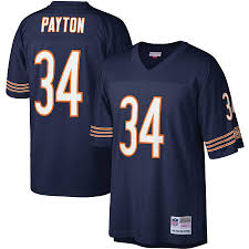 Chicago Bears #34 Walter Payton Legacy Jersey - Navy