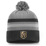 Vegas Golden Knights Fanatics Branded Authentic Pro Home Ice Cuffed Knit Hat with Pom - Gray