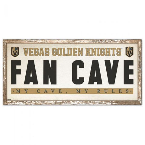 "Vegas Golden Knights ""Fan Cave"" 8""x17"" Wood Sign"