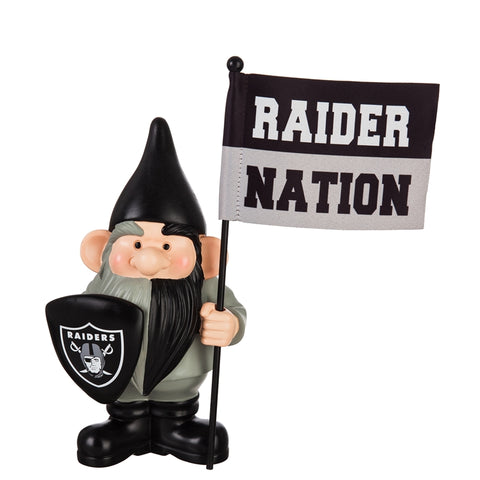 Las Vegas Raiders Flag Holder Gnome