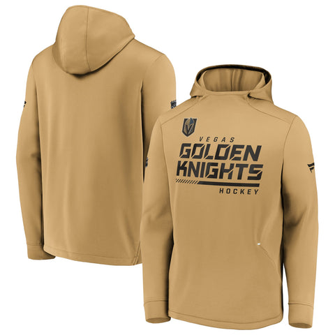 Vegas Golden Knights Fanatics Branded Authentic Pro Locker Room Pullover Hoodie - Gold