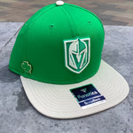 Golden Knights St. Patrick's Day Snapback Hat with Included Collectible Pin - Green