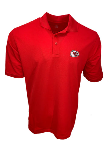 Kansas City Chiefs Men's Pique Polo - Red