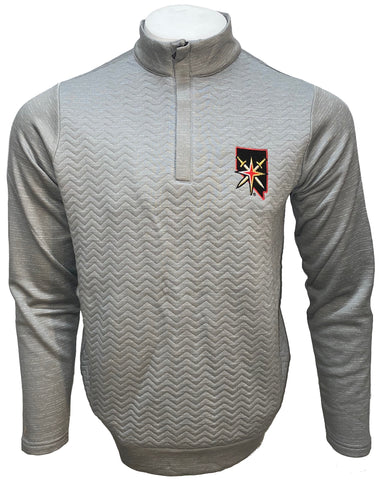 Golden Knights Analog 1/4 zip Pullover- Gray