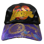 Los Angeles Lakers Chinese New Year New Dawn Silk Strapback Hat