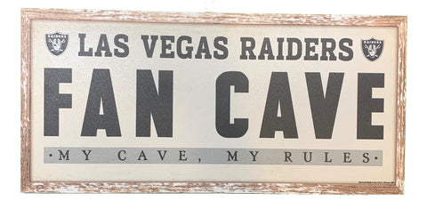 "Las Vegas Raiders ""Fan Cave"" 8""x17"" Wood Sign"