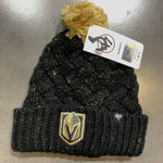 Golden Knights Women's Primary Black Fiona Cuff Knit Beanie