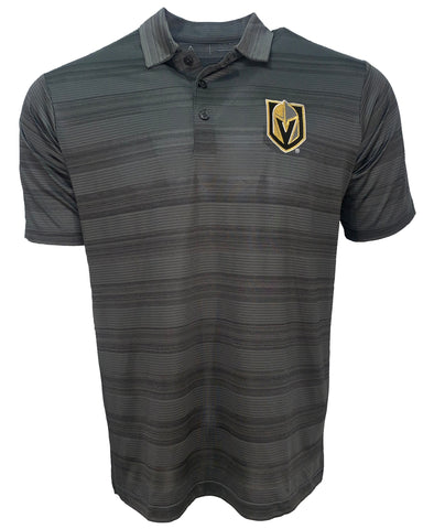 Golden Knights Primary Logo Compass Polo - Gray Stripe
