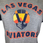 Las Vegas Aviators Womens Fly Out Raglan Tee - Slate Grey