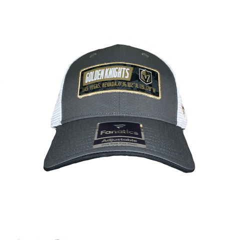 Golden Knights Iconic Trucker Snapback Hat - Gray/White
