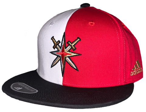 Golden Knights Retro Reverse Alt Logo Snapback - Red & White