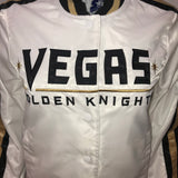 Golden Knights Women's White Satin Button Up Jacket
