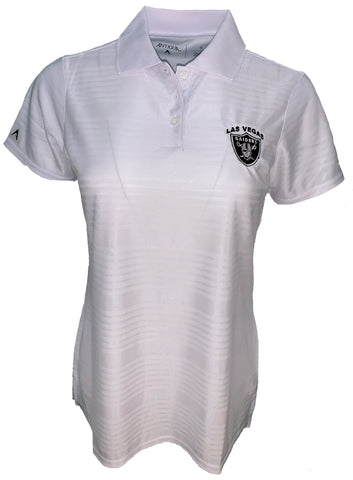 Las Vegas Raiders Womens Illusion Polo-White