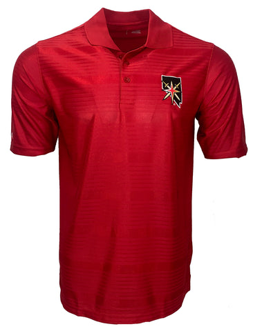 Golden Knights State Illusion Polo - Red Stripe