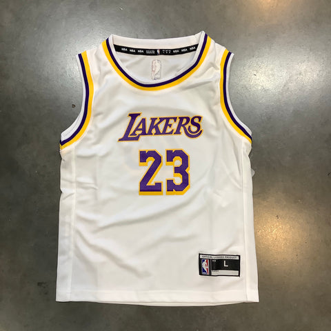 Lakers LeBron James Kids Away Jersey