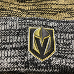 Golden Knights Primary Black/Gold Static Cuff Knit Beanie
