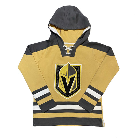 Golden Knights Youth Gold Alternate Stripe Hoodie
