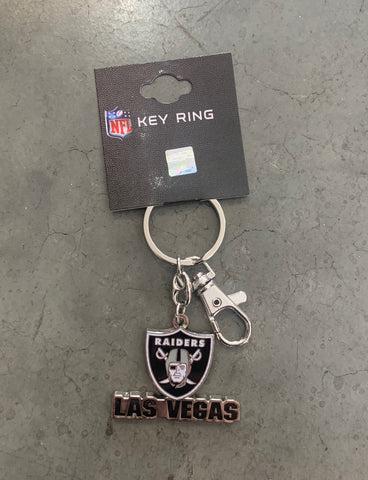 Las Vegas Raiders Metal Basic Logo Metal Key Chain
