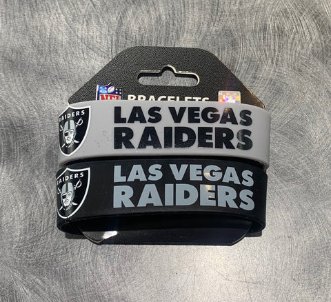 Las Vegas Raiders 2 Pack Rubber Bracelets