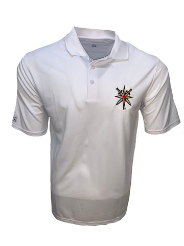 Vegas Golden Knights Men's Retro Reverse White Pique Polo Alt