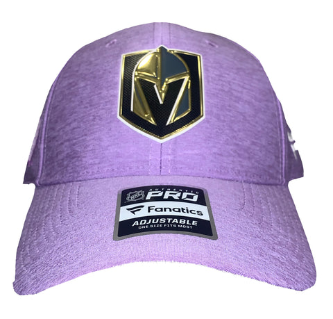 Golden Knights Hockey Fights Cancer Snapback Hat - Purple
