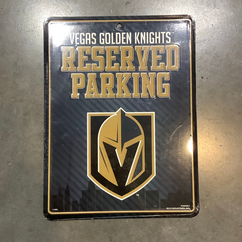 Golden Knights Reserved Parking Sign