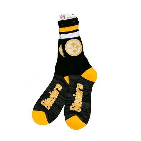 Steelers Black Script Socks