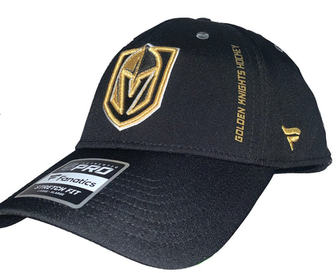 Golden Knights Rinkside Stretch Fit Hat - Black