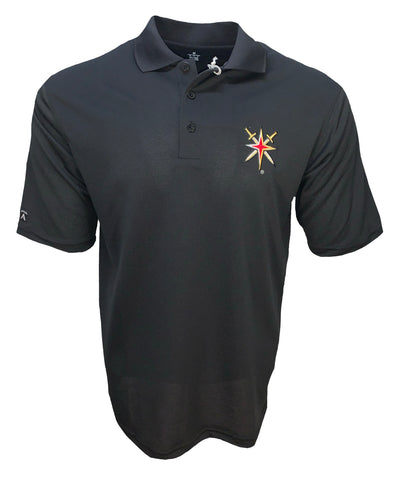 Vegas Golden Knights Black Pique Polo Alt