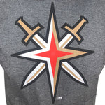 Golden Knights Men's Alternate Logo Sleeveless Hoodie- Gray