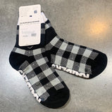 Las Vegas Raiders Buffalo Plaid Socks - Black & White
