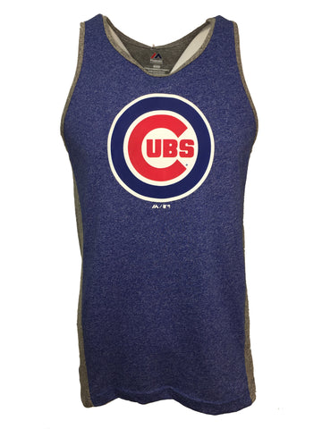 Chicago Cubs Shattered Record Tank Top - Blue/Gray