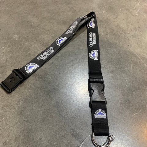 Colorado Rockies Lanyard - Black