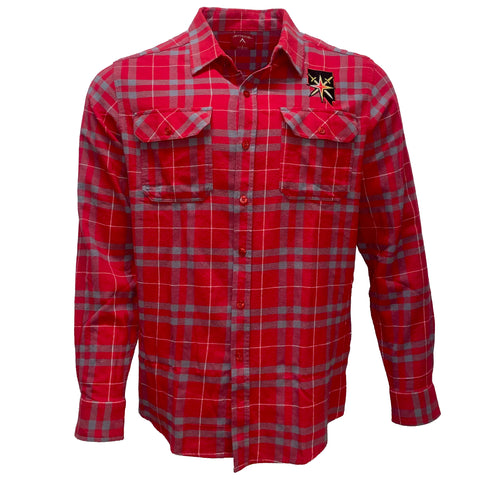 Golden Knights Men's Stance Flannel - Red
