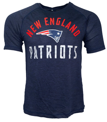 New England Patriots Nexus Arch Dri Fit Tshirt - Navy Heather