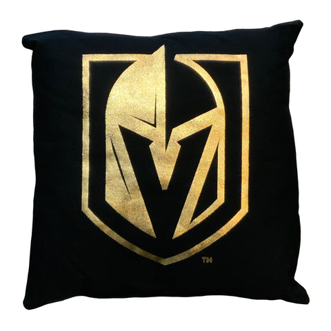 Golden Knights Metallic Pillow