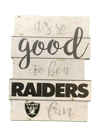 "Las Vegas Raiders Slogan 11""x14"" Wood Sign"