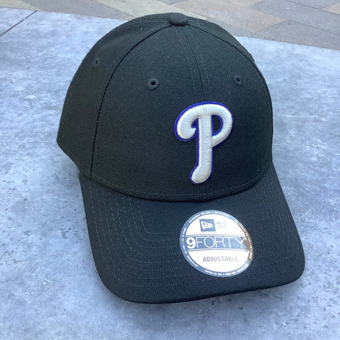 Phillies New Era The League Tonal 9FORTY Adjustable Hat - Black