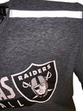 Las Vegas Raiders Men's Justify Long Sleeve Static Tee - Heather Gray