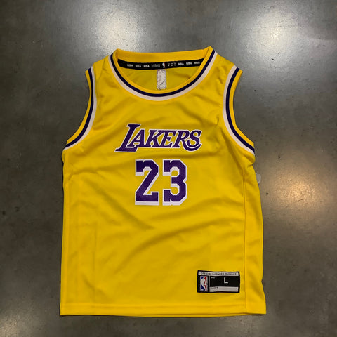 Lakers LeBron James Kids Home Jersey