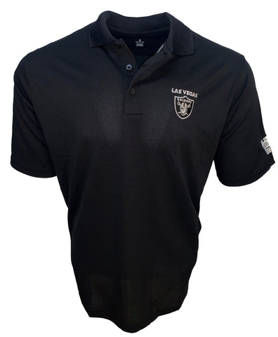 Las Vegas Raiders Mens Pique Polo-Black