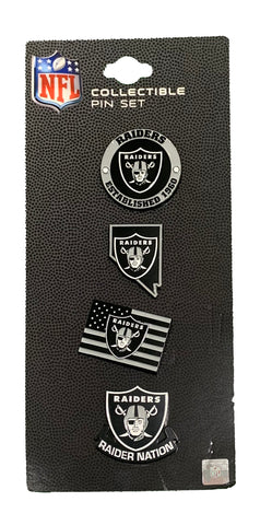 Las Vegas Raiders 4 Pack Collectable Pin Set