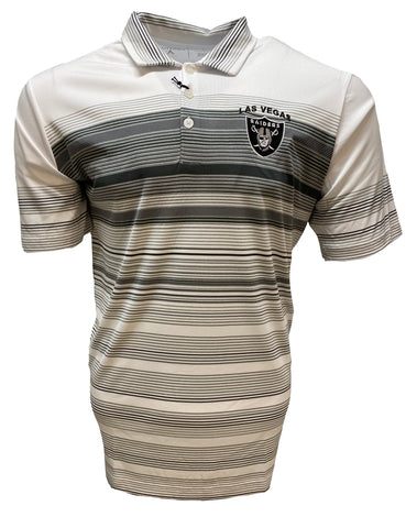 Las Vegas Raiders Hudson Striped Polo - White