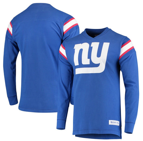 Giants Men's NFL Team Captain Throwback V-Neck Sweater