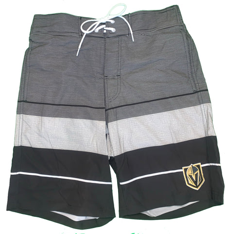 Golden Knights Striped Swim Trunks