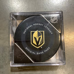 Golden Knights Official Game Puck in Case