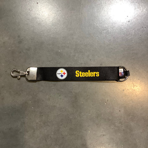 Pittsburgh Steelers Wristlet Lanyard - Black
