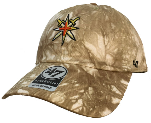Golden Knights Old Gold Tie Dye Clean Up Adult Hat