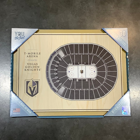 Golden Knights Small 3D Wall Art