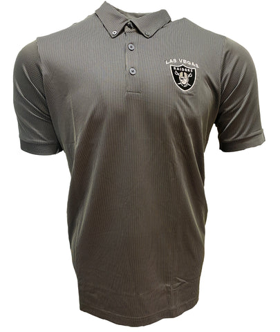 Las Vegas Raiders Legend Striped Polo - Gray/White